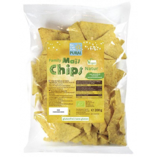 Pural Maischips Natur -Family- 200g Packung