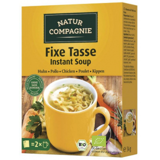 Natur Comp Fixe Tasse Instant Suppe Huhn mit Nudel 34g