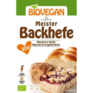 Biovegan Meister Backhefe 7g Packung