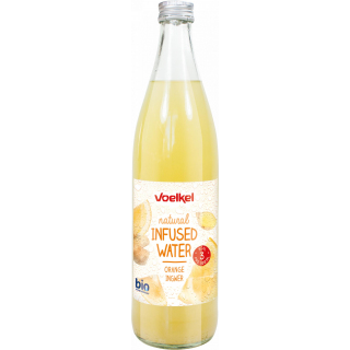 Voelkel Infused Water Orange Ingwer 0,5l Flasche