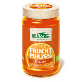 Allos Frucht pur Orange 250g Glas -75% Fruchtanteil-