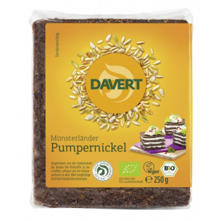 Davert Pumpernickel in der Folie 250g Packung