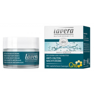 lavera basis sensitiv Anti-Falten Nachtcreme Q10 - 50ml Tiegel