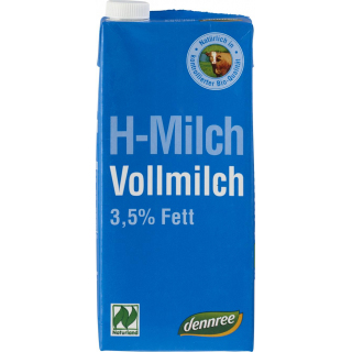 dennree H-Milch 3,5% 1l Tetra Pack