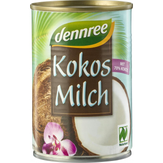 dennree Kokosmilch 70% 400ml Dose