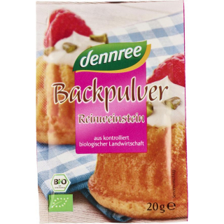 dennree Backpulver 4 x 20g Packung