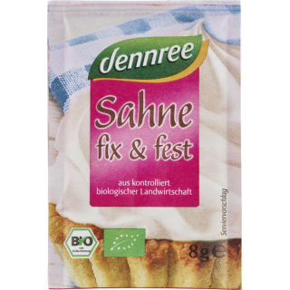 dennree Sahne fix & fest 4x 8g Packung