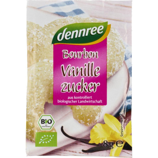 dennree Bourbon-Vanillezucker 3x 8g 24g Pack