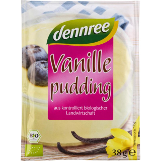 dennree Pudding Vanille 3x 38g Packung