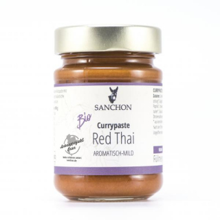 Sanchon Red Thai Curry Paste Sanchon 190g Glas
