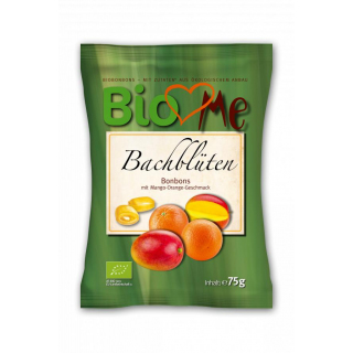 BIO loves Me Bachblüten Bonbons Mango-Orange 75g Packung