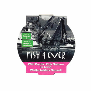 Fish For Ever Wildlachsfilet Naturell 160g Dose