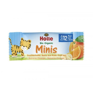 Holle Minis Fruchtschnitten Banane Orange 8x 12,5g Packung