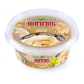 Green Heart Hummus Natur 150g Becher